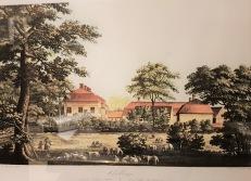 Gravyr av Ulrik Thersner 1817. Skillinge säteri från väster.
