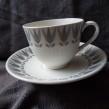 Kaffekopp Grå Lotus
