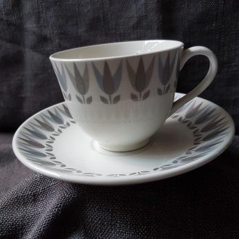 Kaffekopp Grå Lotus -