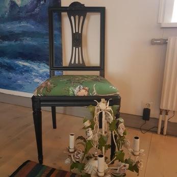 Gustavianska stolar 4st -