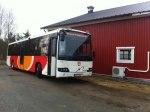 Bussarna utgår från Kättingegaraget, som här