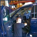 Montering av kamera i taxibilen