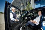 En ohållbar situation. Kicki Martinsson och Thorleif Josefsson kritiserar Taxi Halmstads upplägg som gör det tufft för egenföretagarna som ansluter sig.