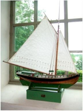 Modell av en Sandkil - Blidö Kyrka
