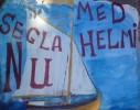 """Advertising by the Naivist painter Erik """"Kulan"""" Wennberg"""
