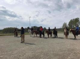 På Islandshästens Dag, hade vi förmånen att introducera ett gäng nya Team med Islandshästar i Beridet bågskytte! Foto: Lotta Lindon