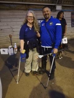 Ylwa hittade en lika envis och skadad kompis från Italien med kryckor på EM! Foto: cyroo.se