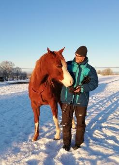 Vi uppmuntrar hästarna att bli självständiga och att lita till sin egen förmåga.