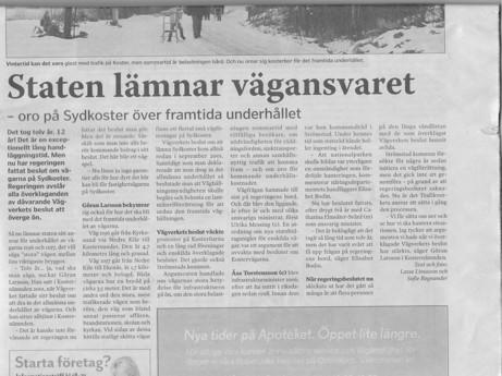 Artikel i Strömstads tidning den 21 febr 2013