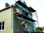 Fasadrenovering, fasadbyte, sätta invändig panel, renovera utvändig panel, byta panel