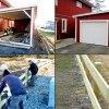 Carport byggs om till ett kallt garage. Staket sattes upp över delar av tomten!