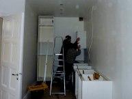 Köket byggs upp från grunden