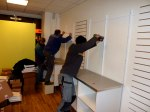 Inredningsarbete i en affär i Stockholm centrum
