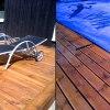 En stor altan på 100m² har byggt runt en pool (bassäng) på Ekerö
