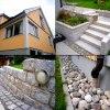 Dränering, stenläggning, mögelborttagning på husfasaden