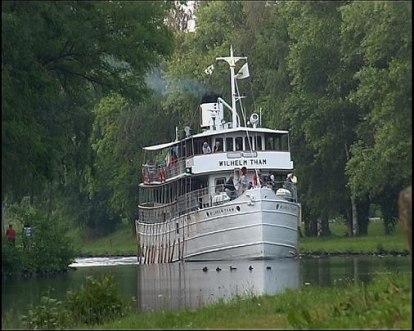 Båten Wilhelm Tam på Göta Kanal