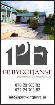 PE Byggtjänst i Falkenberg, Halland hjälper dig att renovera eller bygga altan, uteplats eller vinterträdgård