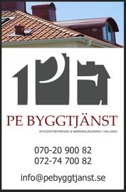Takläggare, bandtäckning och sedumtak - PE Byggtjänst i Falkenberg utför de flesta typer av takbyten & takarbeten i Halland, Halmstad, Varberg, Kungsbacka, Falkenberg, Hylte & Laholm