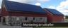 Montering av solceller på tak till gård utanför Falkenberg - PE Byggtjänst certifierad montör av Schletter solceller
