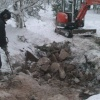 Sprängningsarbete för slamavskiljare