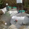 BAGA reningsverk på bergig tomt