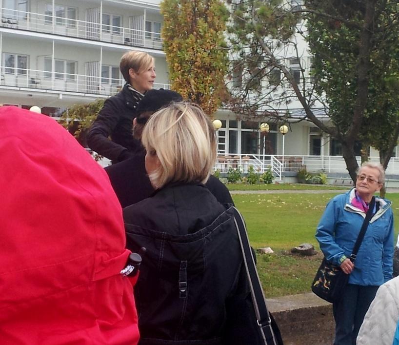 Lena berättar om estnisk funkisarkitektur