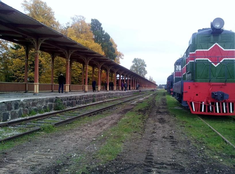 Järnvägsperrongen i Haapsalu påstås vara världens längsta