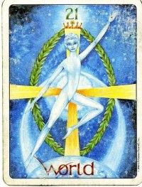 The world - stora arkanan Gill´s tarot