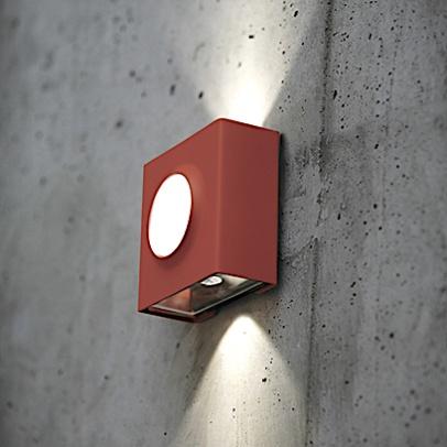 Utebelysning med Up & Down light, modell KLint för vägg och fasad, by Roger Pradier - hos Alegni Interiors