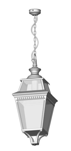 Stor utebelysning i klassisk stil - taklykta - Alegni Interiors Stockholm