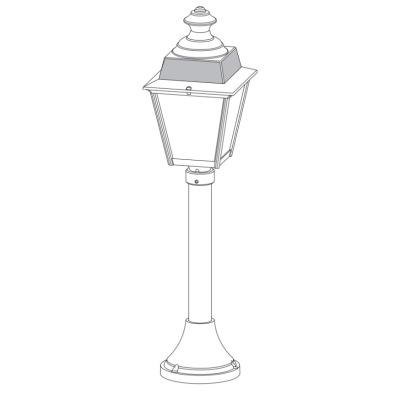 Nätt pollare - belysning trädgårdar och parker - alegni.com