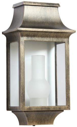 Liten utebelysning i mässing, väggmodell klassisk stil , IP44 - alegni.com
