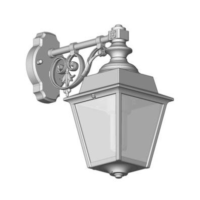 Liten modell utelampa på arm - sekelskifte - Alegni Interiors, Stockholm
