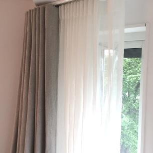 Dubbla gardiner, linne och voile - Alegni Interiors, Stockholm