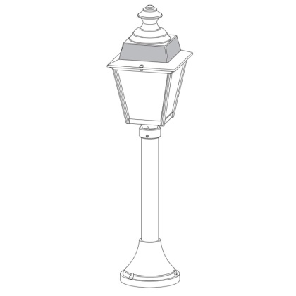 Klassisk utomhusbelysning - Kollektion Chenonceau - Modell 6, pollare - hos Alegni Interiors Stockholm