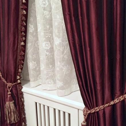 Skräddarsydda gardiner med mörkläggning och insyndskydd - gardinmakare - Alegni Design Interiors Stockholm