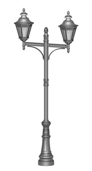 Gatubelysning - Kollektion Citadelle lyktstolpe, Modell 7 - hos Alegni Interiors Stockholm