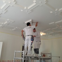 renovering av stuckatur tak - Alegni Interiors