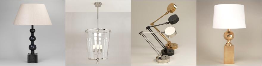 Vaughan designs - Bordslampor - Taklampor  - Kristallkronor - Vägglampor - hos Alegni Interiors Stockholm