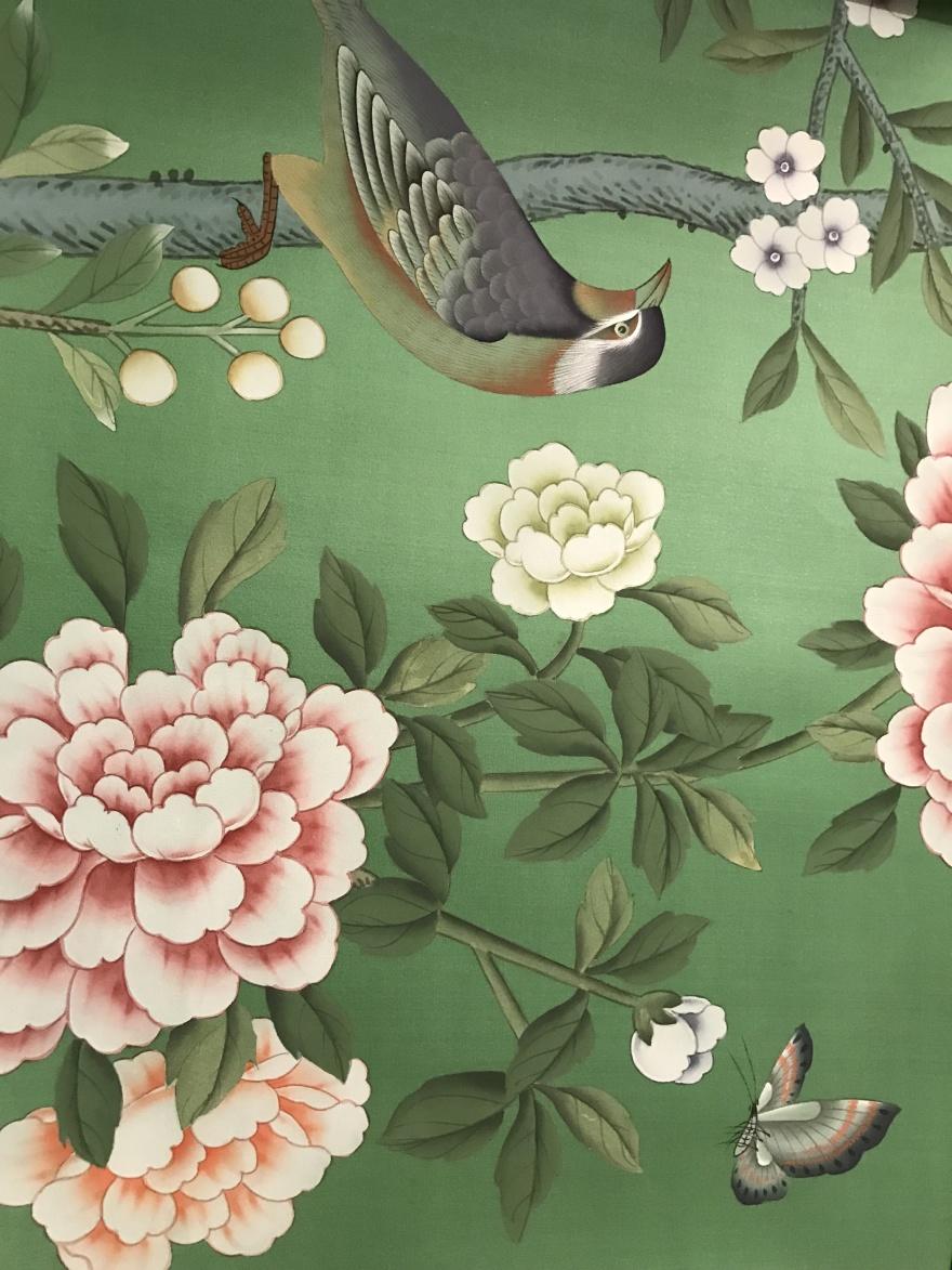 Handmålade tapeter - de Gournay - återförsäljare i Sverige - Alegni Design Interiors, Stockholm