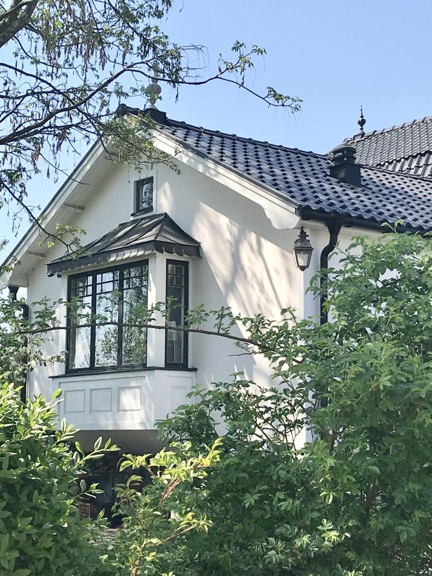 Takbyte glaserade takpannor - nytt burspråk - Alegni Design Interiors , Stockholm