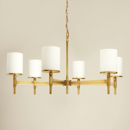 Taklampa Stratton Chandelier i mässing, by Vaughan Designs - hos Alegni Design Interiors, Stockholm