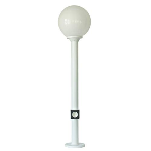Utebelysning med sensor eller kontaktuttag, kort lyktstolpe - Kollektion Moon - Modell 10 - hos Alegni Interiors Stockholm