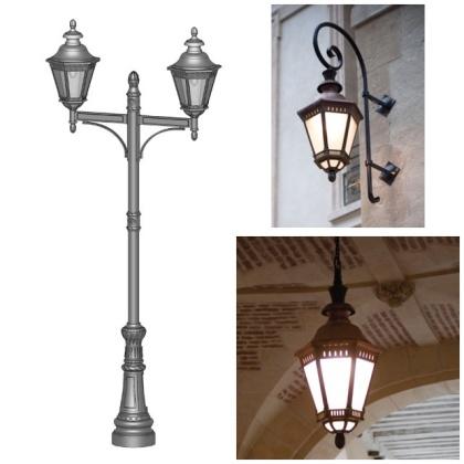 Magnifik utebelysning för stora byggnader och portaler - Klassisk utomhusbelysning - Kollektion Citadelle - hos Alegni Interiors, Stockholm
