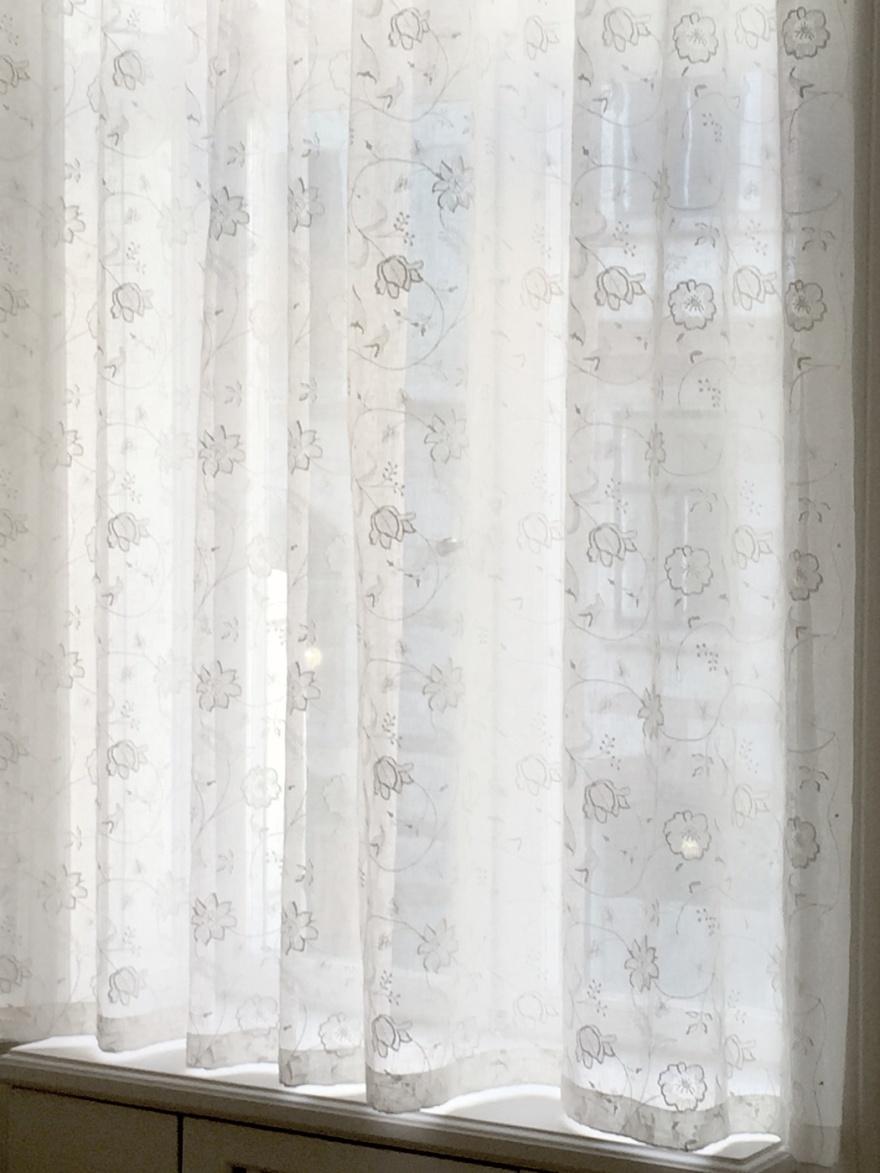 Tunna gardiner - stora fönster - måttbeställ hos Alegni Interiors, Stockholm