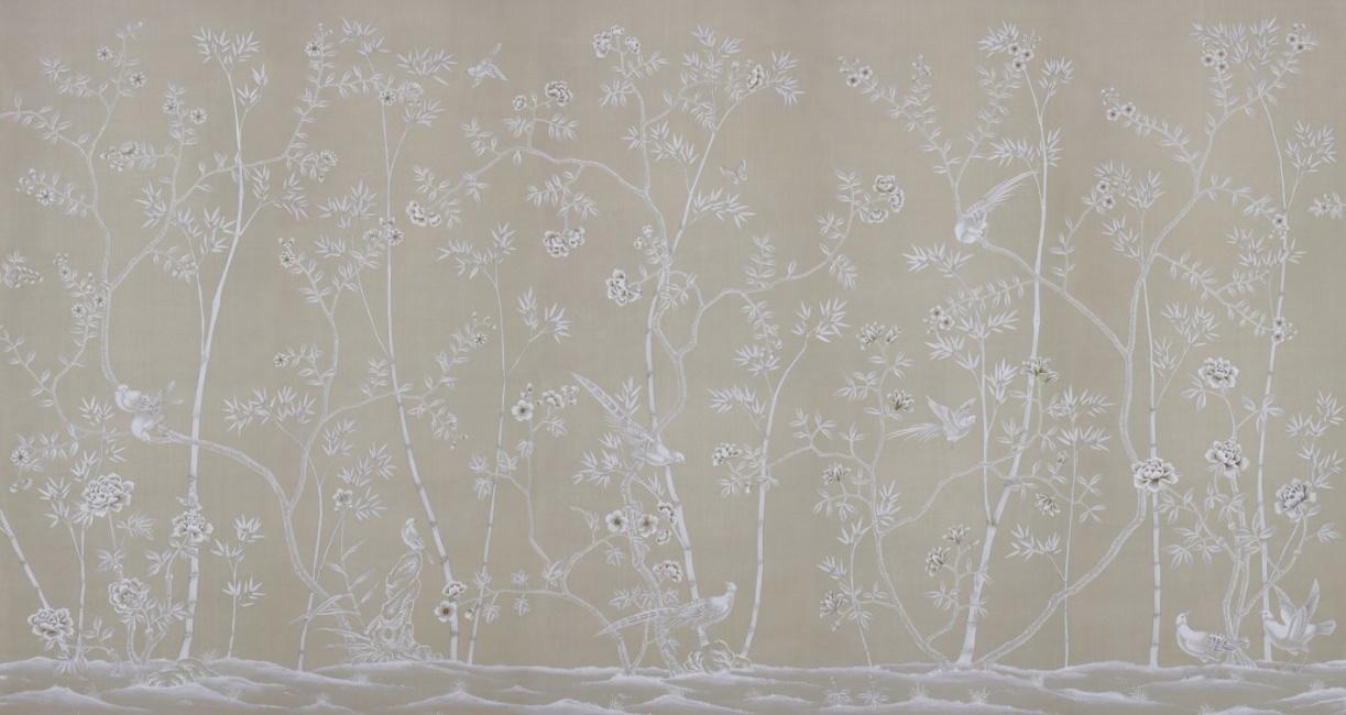Handmålade tapeter - Kollektion Portobello av de Gournay - hos Alegni Interiors, Stockholm