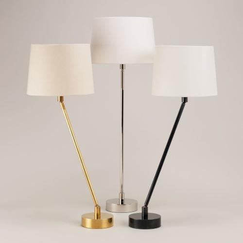 Bordslampa Pisa Small - mässing, brons och nickel - by Vaughan Designs - beställ hos Alegni Design Interiors, Stockholm