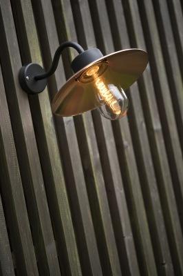 Stallampa i zink och koppar - utomhusbelysning kollektion Belcour - Alegni Interiors Stockholm