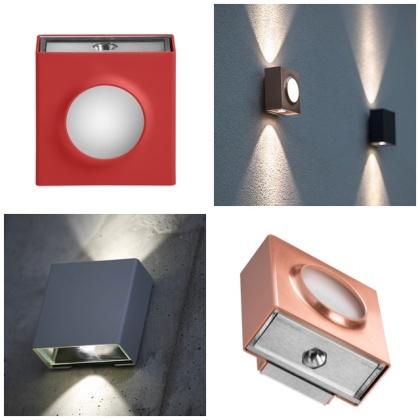 Fasadbelysning, up & down light - integrerad led, IP65 - Modell Klint by Roger Pradier - hos Alegni Interiors Stockholm