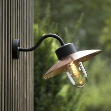 Stallampa - utomhusbelysning i koppar och zink - Kollektion Belcour, vägg, tak &stolpe - beställ hos Alegni Design Interiors, Stockholm